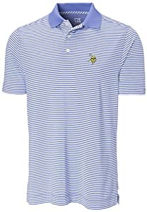 NFL Minnesota Vikings Mens CB DryTec Trevor Stripe Polo, Jasper White by Cutter & Buck