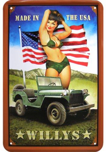 willys-jeep-pinup-replique-publicitaire-en-tole-motif