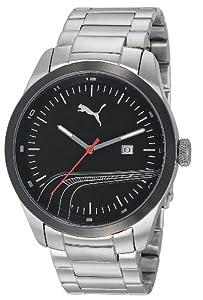 Puma PU102531004 Stripe Black Silver Watch