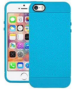 iPhone 5 Case, Grip DEFENDER Series Back Case Cover For Apple iPhone 5 (Sky Blue)