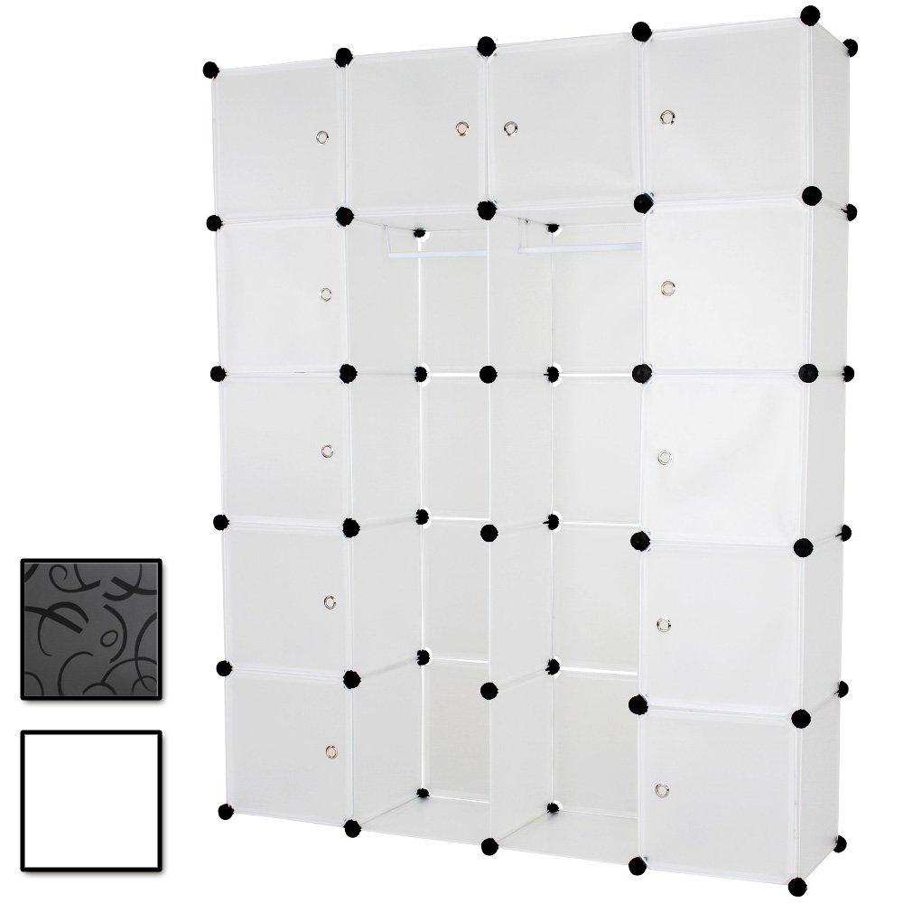 Kleiderschrank Wäscheschrank in transparenter Optik B/H/T: ca. 140/180/37 cm günstig kaufen