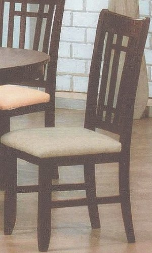 black friday set of 2 gibraltar dark brown cherry finish wood dining