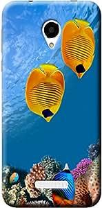 Fashionury Printed Back Case Cover For Micromax Q370 -Print34473