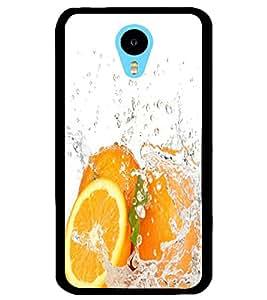 ColourCraft Orange Design Back Case Cover for MEIZU M1 NOTE