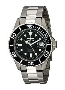 Invicta Men's 0420 Pro Diver Automatic Black Dial Titanium Watch