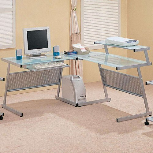 Buy Low Price Comfortable Coaster Wrightwood L-Shape Computer Desk (B004UJ1C54)