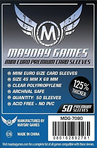 Mayday Games Mini Card Sleeve 45 MM X 68 MM pack of 100