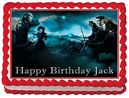 Harry Potter Personalized Edible Cake Topper Image -- 1/4 Sheet (Personalized Harry Potter compare prices)