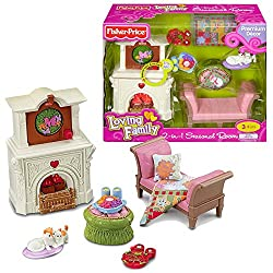Fisher Price Year 2010 Loving Family Dollhouse Premium Decor Furniture Accessory Set : 2-in-1 SEASON
