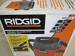 Ridgid 3 Gallon Wet/Dry Vac with Bonus LED Lighted Car Cleaning Nozzle