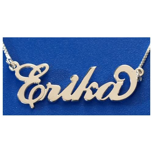 Amazon.com: Silver Personzialized Name Necklace, Stefania Name