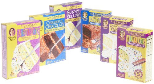 Naturally Nora Cake and Frosting Mix Variety Pack (3 Cake Mixes, 3 Frosting Mixes)