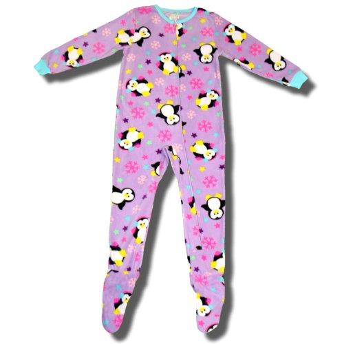 Penguins In The Snow Blanket Sleeper For Girls - Medium (7/8) front-1087714