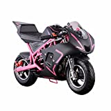 XtremepowerUS 40CC 4-Stroke Gas Power Mini Pocket Motorcycle Ride-on (Pink) (Color: Pink)