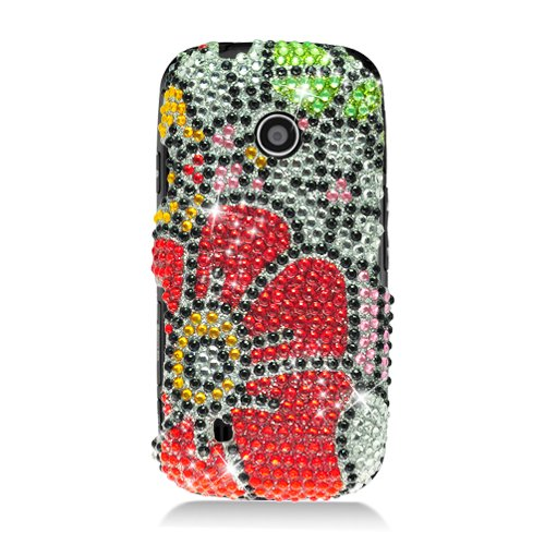 Cell Accessories For Less (Tm) Lg Beacon Un270/Mn270/Vn270 Cosmos Touch Full Cs Diamond Case Flower Green Red 325 - By Thetargetbuys