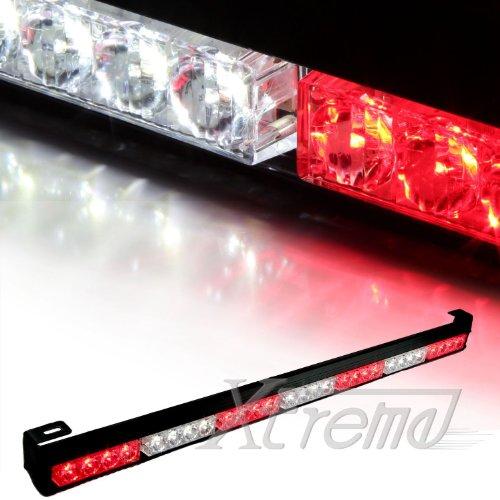 """Xtreme® 31.5"""" 28 Led 7 Modes Traffic Advisor Emergency Warning Vehicle Strobe Light Bar Kit (White/Red)"""