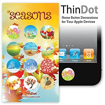 "ThinDot Home Button Stickers for iPhone, iPad and iPod Touch ""Seasons"""