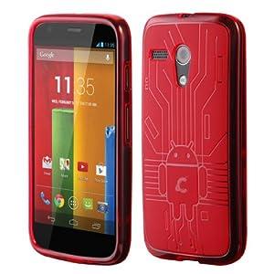 Moto G Red Cruzerlite Bugdroid Circuit Case for Motorola Moto G - Red