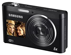 Samsung DV300F SMART Compact Digital Camera - Black (16.0MP, 5x Optical Zoom) 3.0 inch LCD