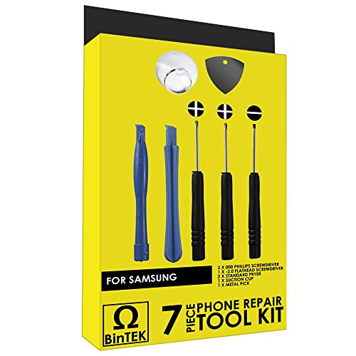 BinTEK Premium 7-Piece Samsung Smartphone and Tablet Repair Kit - Samsung Phone Repair Samsung Tablet Repair Cell Phone Repair Kit Samsung Galaxy Tools (S5 Repair Kit compare prices)
