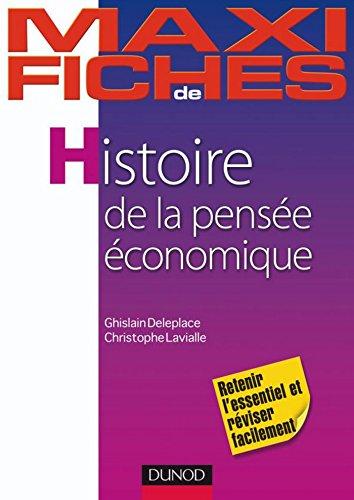 Maxi fiches d'Histoire de la pensée économique (Economie)