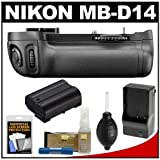 Nikon MB-D14 Grip Multi Power Battery Pack for the D600 Digital SLR Camera with EN-EL15 Battery & Charger + Accessory Kit