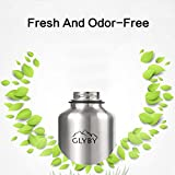 Glyby Stainless Steel Beer Growler, Water Bottle With Double Wall Vacuum Insulation Cup, Wide Mouth, 64 OZ