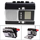 AGPtek® USB Portable Cassette Tape to MP3 LCD Radio Player Adapter Recording & Playing with U-disk function, FM radio