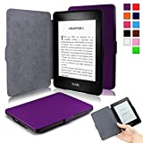 Kindle Paperwhite Case - Infiland Ultra Lightweight Shell Smart Cover for All-New Amazon Kindle Paperwhite (Fits All versions: 2012, 2013, 2014 and 2015 New 300 PPI)- Purple