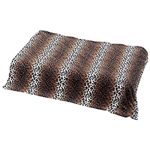 Maxam Leopard Print Microfiber Fleece Throw