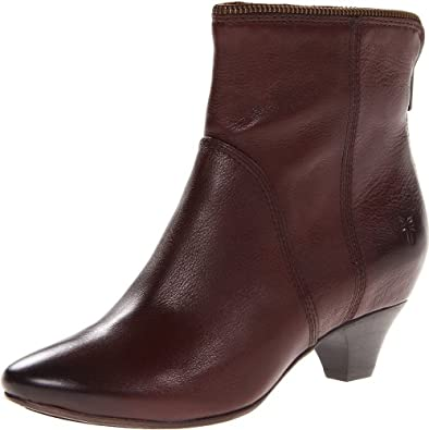 FRYE Women's Steffi Zip Bootie Bootie,Dark Brown,5.5 M US
