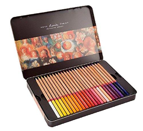 KINGTOP 色鉛筆 カラーペンシル 水彩色 48色セット 収納ケース付き T-48