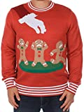 Ugly Christmas Sweater - Gingerbread Nightmare Sweater (Red) by Tipsy Elves - X-Large
