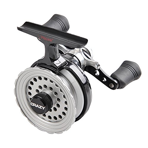 Fiblink Inline Ice Fishing Reel Right/Left In Line Ice Reel with 2.6:1 Gear Ratio