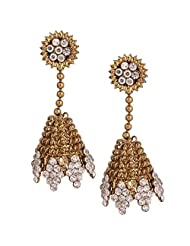 Riana Unique Style Antique Jhumka Drop Earrings For Women
