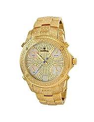 "JBW-Just Bling Men's JB-6213-A ""Jet Setter"" Gold Five Time Zone Diamond Watch"