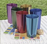 Set of 6 Anodized Aluminum Tumblers