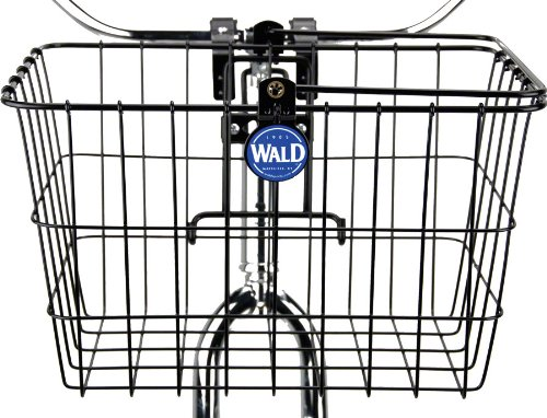 Wald 3133 Front Quick Release Bicycle Basket With Bolt On Clamp (14.5 X 9.5 X 9, Black) front-652228