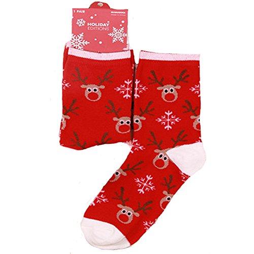 Cute Santa Deer Snoflake Warm Wool Sock