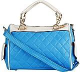 Louise & Harris Handbag (Blue & Cream)