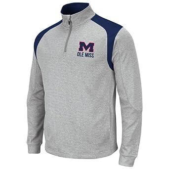 NCAA Mississippi Old Miss Rebels Mens Frost 1 4 Zip Fleece Sweatshirt by Colosseum