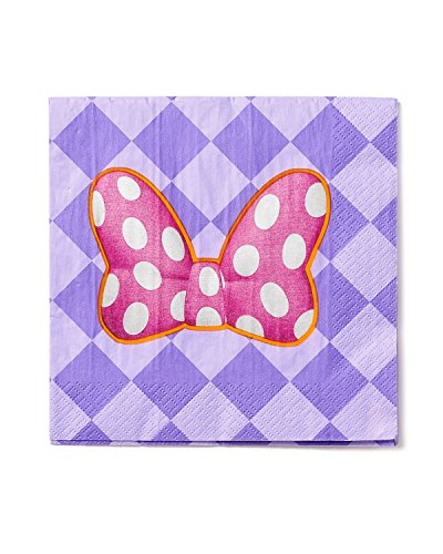Minnie Mouse Bowtique Lunch Napkins, Pack of 16, Party Supplies - 1