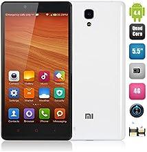 """Xiaomi RedMi Note 4G LTE - Smartphone libre Android (pantalla 5.5"""", cámara 13 Mp, 8 GB, Quad-Core 1.6 GHz, 2 GB RAM), blanco"""