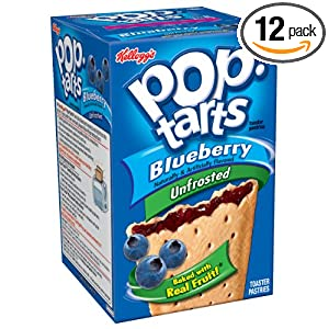 Amazon - 12x 8 Kellogs Pop Tarts Blueberry Toaster Pastries - $10.75