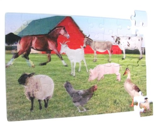 Real 3D Tray Puzzle - Farm Scene