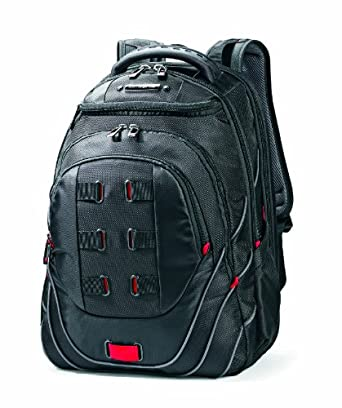 Samsonite Luggage Tectonic Backpack, Black/Red, One Size
