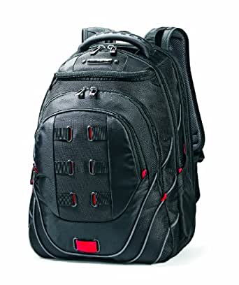 Samsonite Luggage Tectonic Backpack (17 Inch, Black/Red)