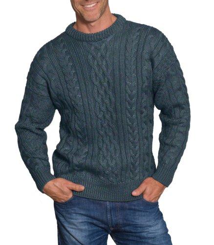 Wool Overs Mens British Wool Aran Jumper