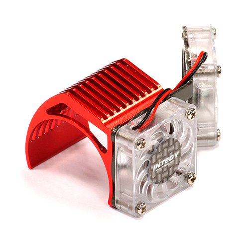 Integy RC Hobby 2961RED Twin Motor Cooling Fan + Heatsink 540/550 (540 Motor Cooling Fan compare prices)