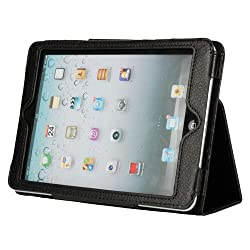 New Two Fold Pu Leather Case Smart Cover Pouch Stand for Apple Ipad Mini Black
